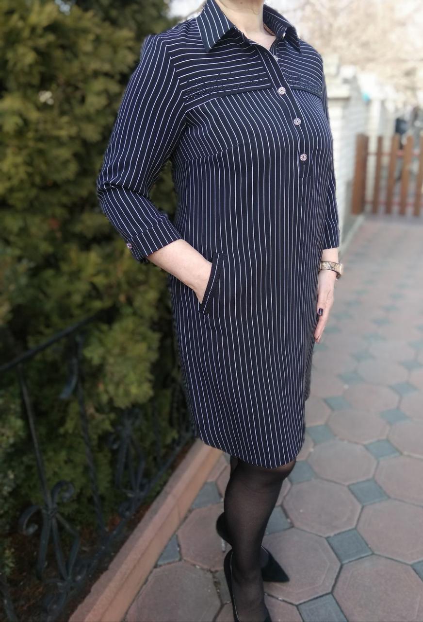 Восхитительное платье в стиле preppy (признан модой элитной молодежи), р.48 код 3272М