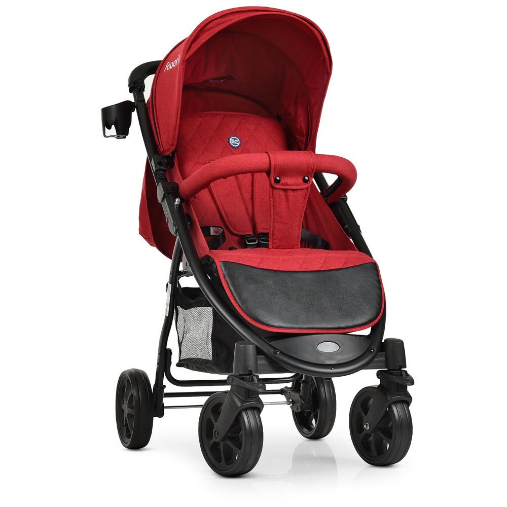 Прогулочная детская коляска El Camino M 3409L FAVORIT Crimson красный