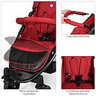 Прогулочная детская коляска El Camino M 3409L FAVORIT Crimson красный, фото 7