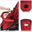 Прогулочная детская коляска El Camino M 3409L FAVORIT Crimson красный, фото 6