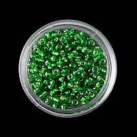Бисер FGB SILVER,  зелёный