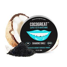 Зубной порошок Cocogreat для отбеливания зубов кокосовым углем 30 г SKL30-150542