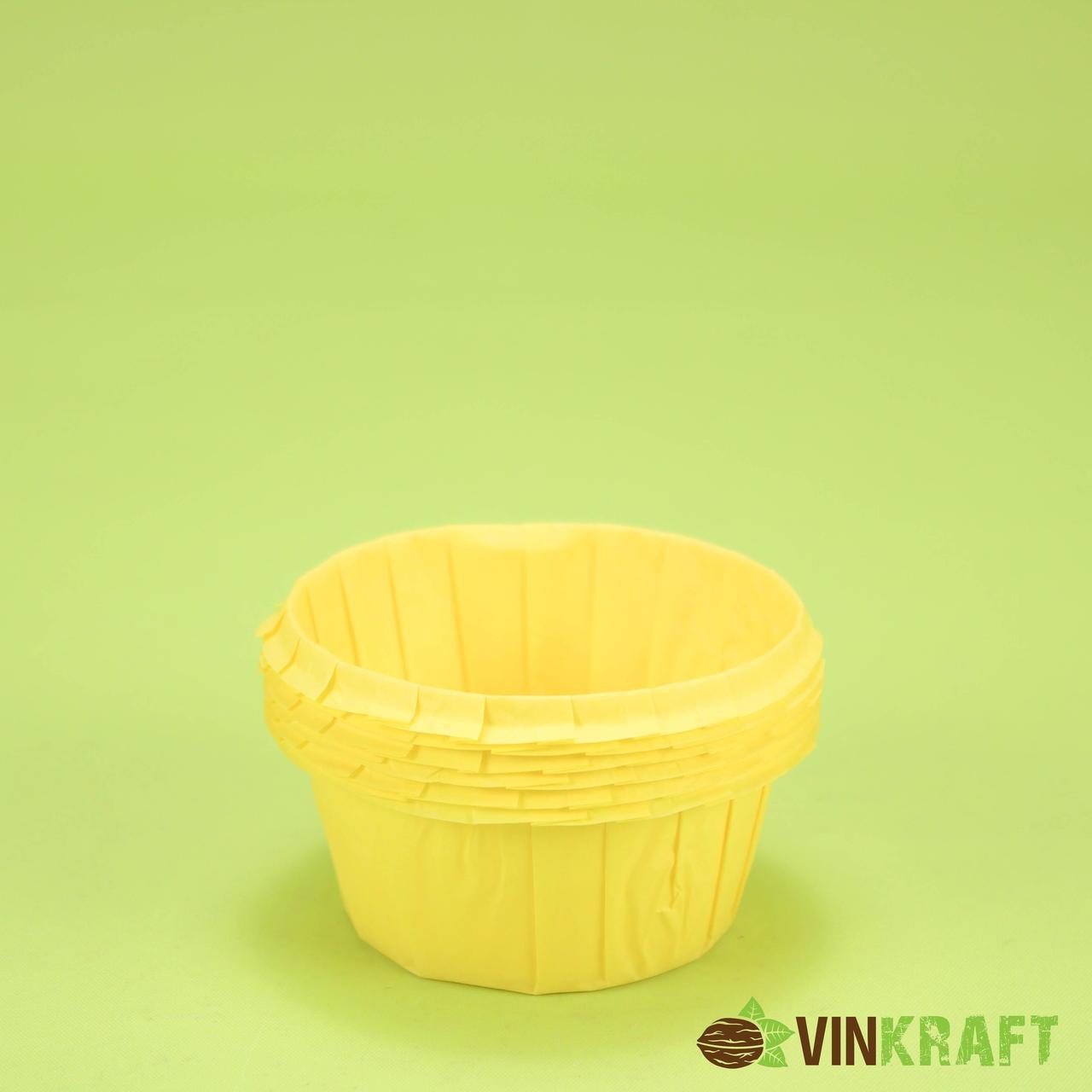 Паперова форма з посиленим бортиком (55*35), жовта