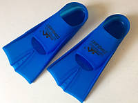Ласты силиконовые укороченные тренировочные с закрытой пяткой для бассейна р. 36-38