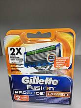 Сменные картриджи для бритья Gillette Fusion5 ProGlide Power  2 шт