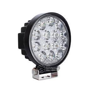 LED кругла фара 42W, 14 ламп, широкий промінь 10/6000K 30V