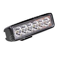 Фара LED прямоугольная 18W (6 диодов), фото 4