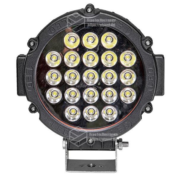 Фара LED кругла 63W (21 лампа) black