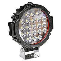 Фара LED кругла 63W (21 лампа) black, фото 4