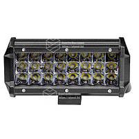 Фара LED прямоугольная 72W (24 диода) 165 mm, фото 4