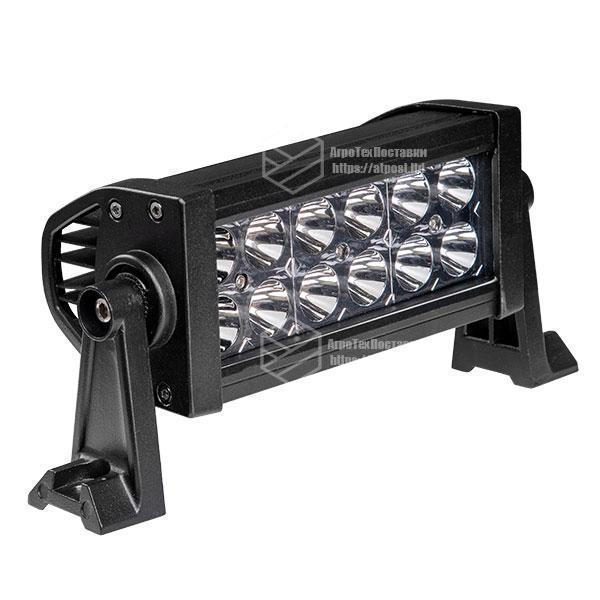 Фара LED bar прямокутна 36W (12 діодів) 252 mm