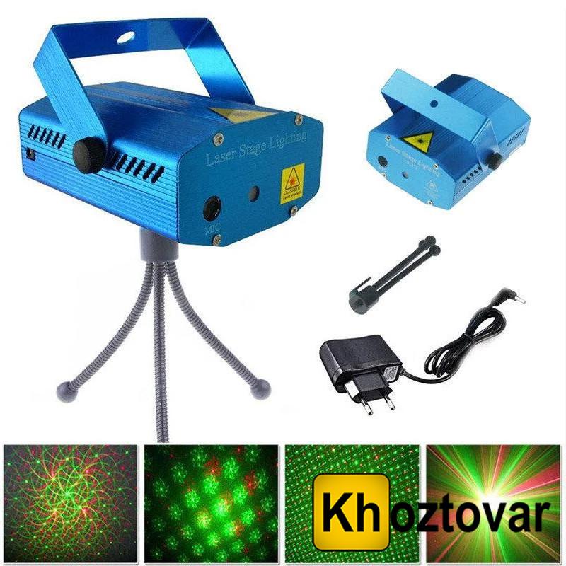 Лазерний міні-проектор Mini Laser Stage Lighting