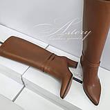 Женские сапоги трубы на каблуке 6см, фото 3
