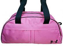Сумка спортивная розовая для тренировок, фитнеса