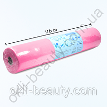 Простыни Doily одноразовые в рулоне 0,6x100 м. из спанбонда 25г/м2 (розовые)