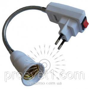 Вилка+кнопка+патрон E27 20см LMA751-20(254-10)
