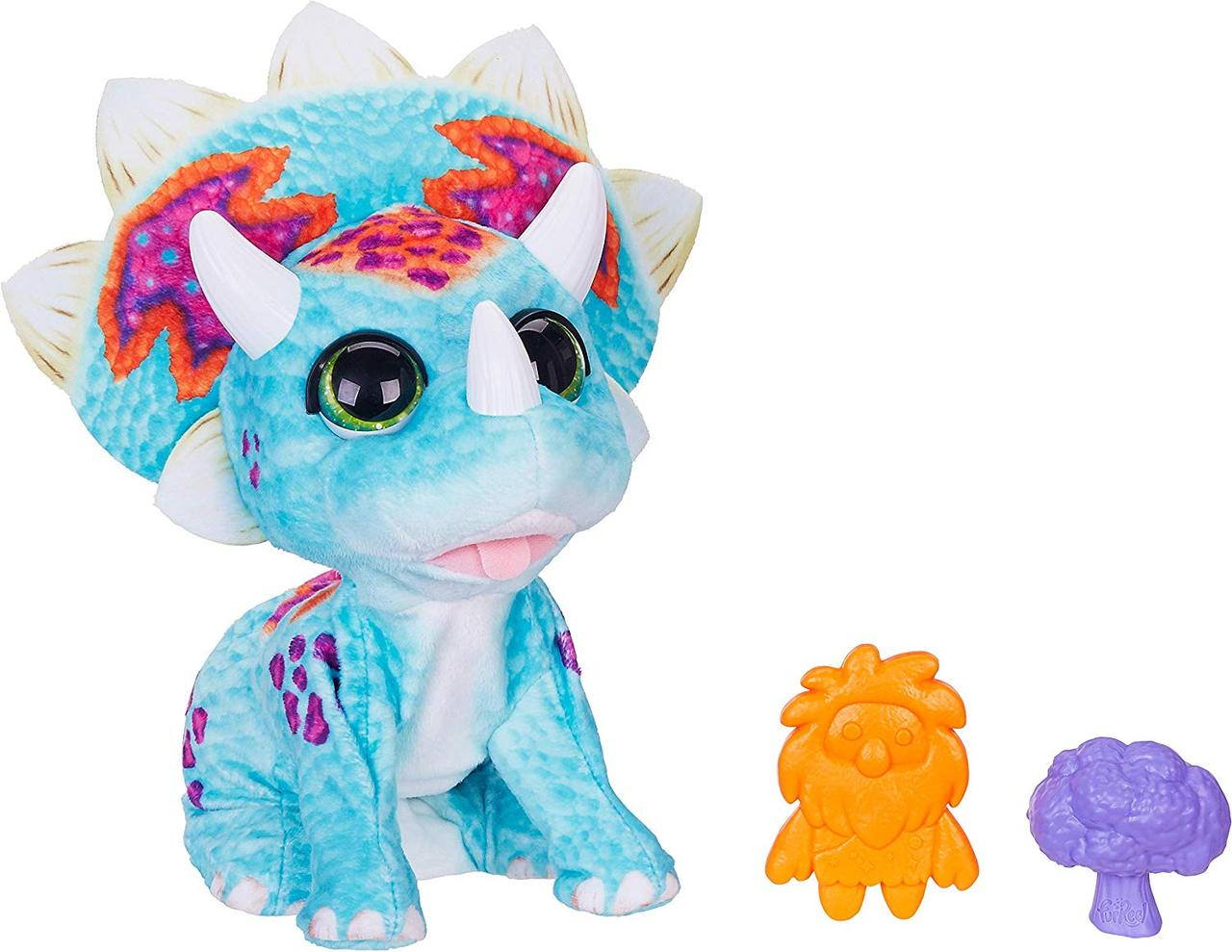Интерактивный динозавр Малыш Топпер Трицератопс FurReal Friends Hoppin' Topper Hasbro
