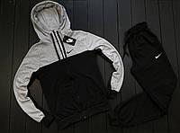 Спортивный костюм Nike CL black-grey мужской весенний осенний