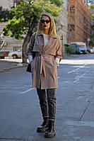Женская ветровка плащ кардиган модный стильный уверсайс цве беж пудра