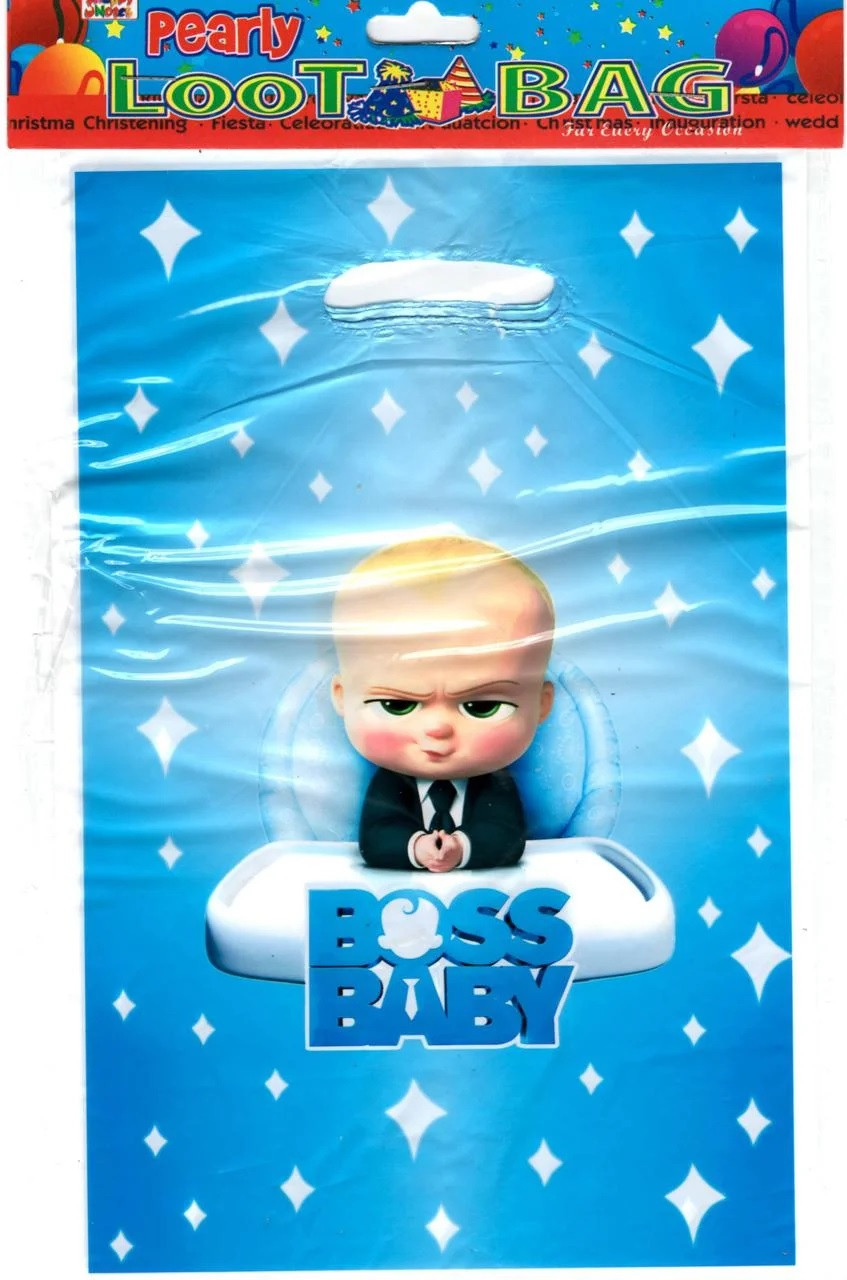 """Пакеты подарочные детские  """"Босс Молокосос"""" Boss baby , 10 шт/уп"""