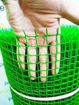 Забор садовый,ячейка 13х13мм рулон 1м х 20м (пластиковый)темно и светло зеленый