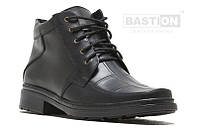 Мужские кожаные зимние ботинки квадро Clasic шн. 40