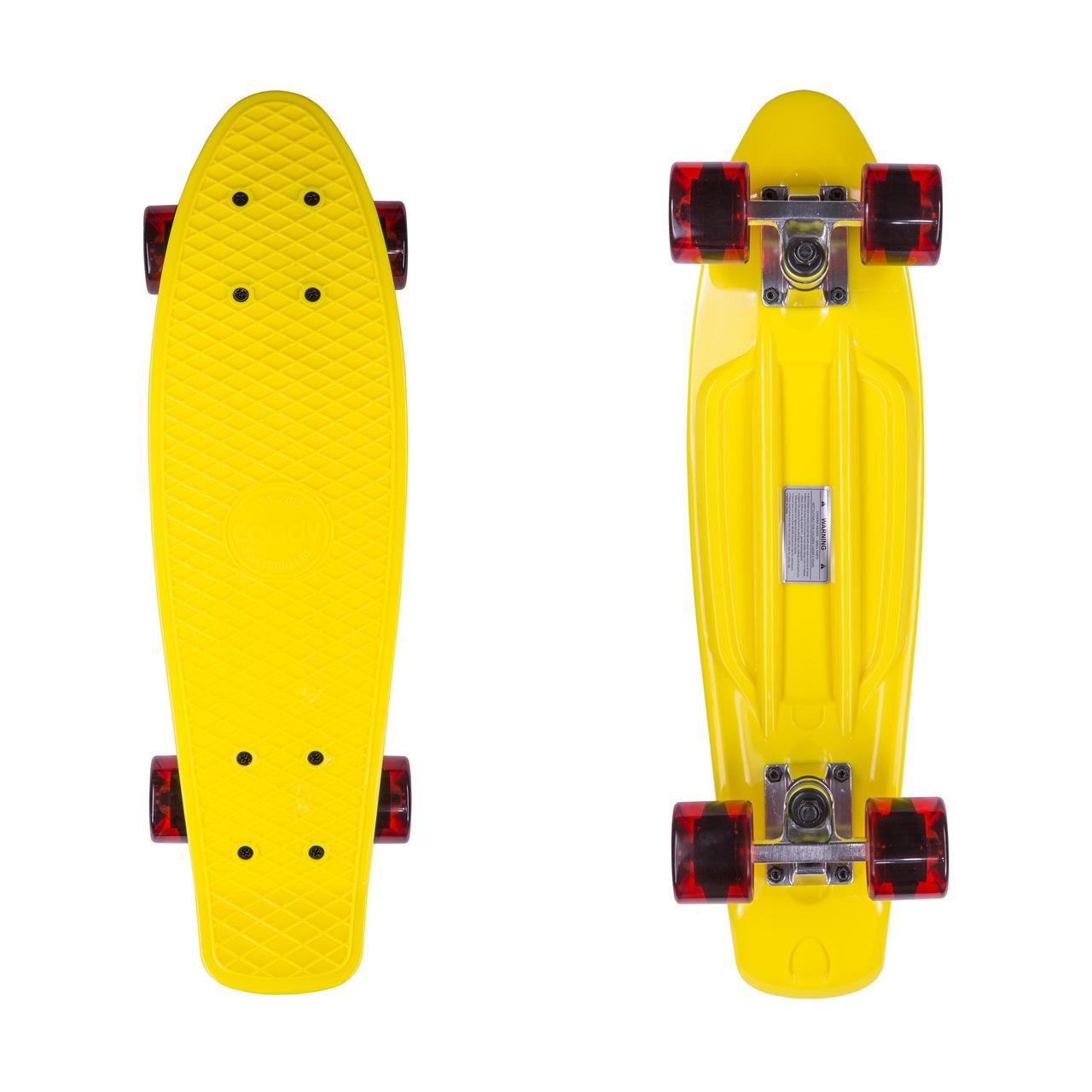Пенниборд Candy 22″ Yellow/Tr.Red