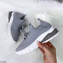 Серые кроссовки на платформе, фото 3