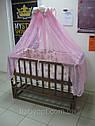 Акция!!! Детская кроватка маятник Малыш+ на подшипниках темная. Отличное качество., фото 3
