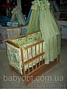 Акция!!! Детская кроватка маятник Малыш+ на подшипниках темная. Отличное качество., фото 5