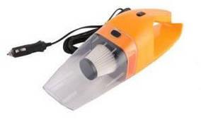 Автомобильный вакуумный пылесос от прикуривателя для влажной и сухой уборки ABX 12V 120W, Оранжевый