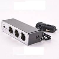 Разветвитель тройник сплиттер от  прикуривателя USB ABX