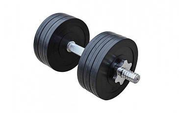 Гантель обрезиненная RN-Sport 16 кг