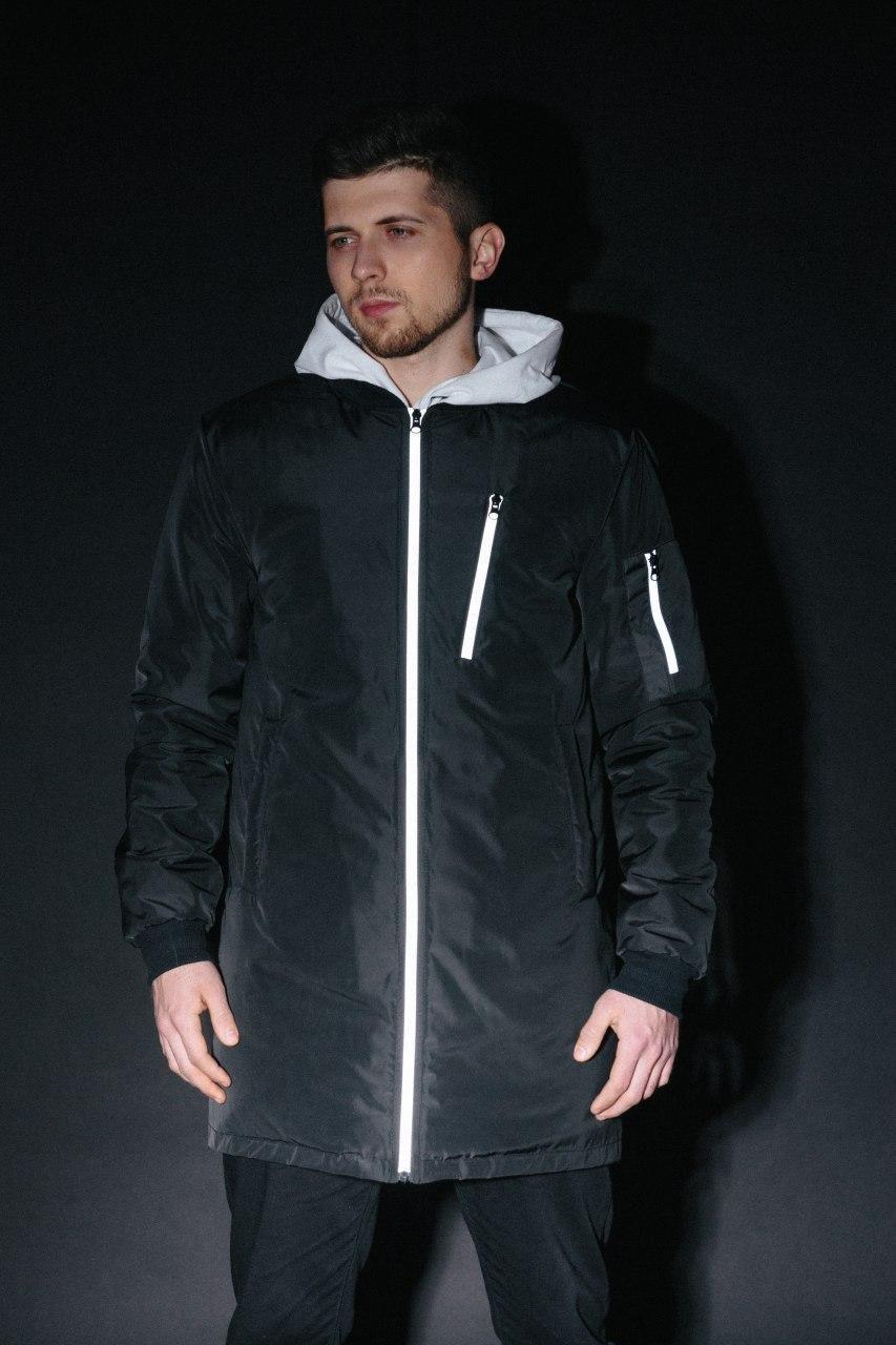 Весенняя мужская куртка с рефлективом