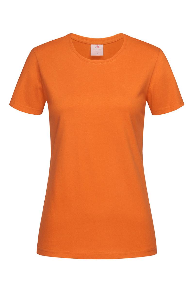 Футболка жіноча помаранчева з круглим вирізом Stedman - ORAСТ2600