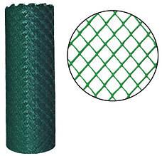 Забор садовый,ячейка 15х15мм рулон 1м х 20м (пластиковый)темно и светло зеленый