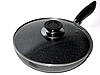 Алюмінієва сковорода з антипригарним покриттям Смаження Pan Wimpex WX2405 (Teflon) 24 см Краща ціна!, фото 2