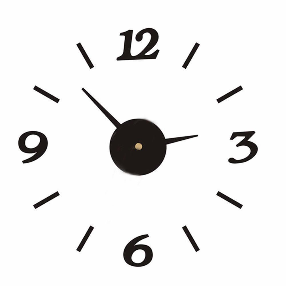 Настенные 3D часы от 60 до 90 см (ZH528-B)