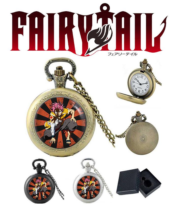 """Карманные часы Хвост Феи """"Нацу на колене"""" / Fairy Tail"""