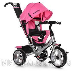 Дитячий велосипед M 3113-6 триколісний, колеса EVA, рожевий