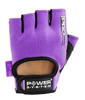 Перчатки для фитнеса и тяжелой атлетики Power System Pro Grip PS-2250 S Purple