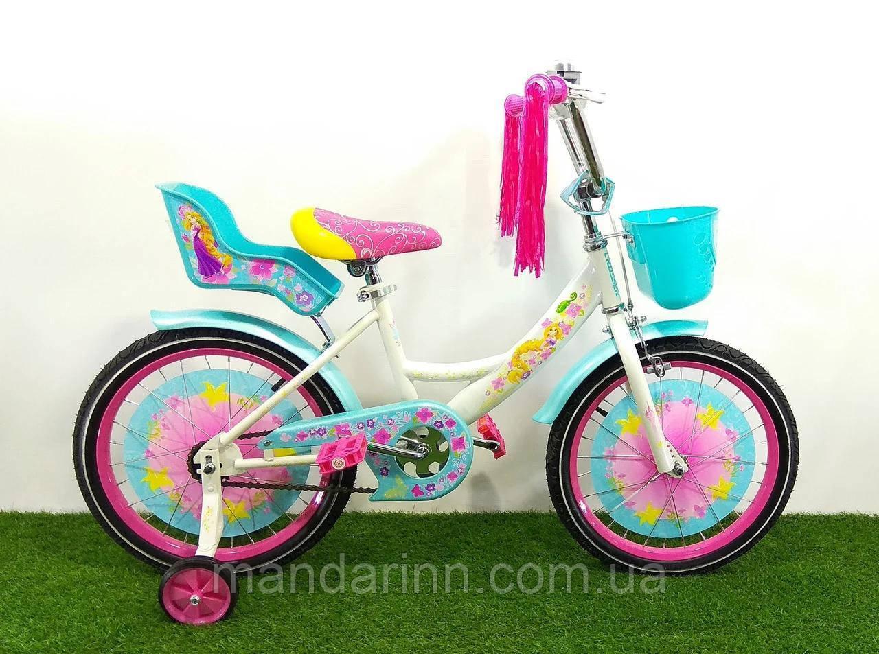 Детский велосипед GIRLS 14 дюймов. Бирюзовый.