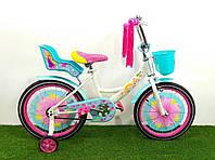 Детский велосипед GIRLS 14 дюймов. Бирюзовый., фото 1