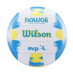 Мяч волейбольный Wilson AVP HAWAII SS18 белый/синий/желтый