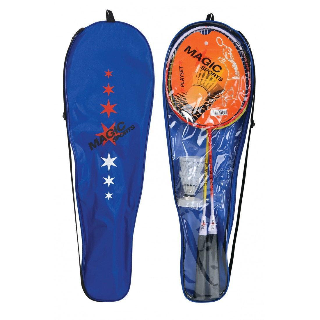 Набор для бадминтона Magic Sports (2 ракетки, 2 волана) в чехле