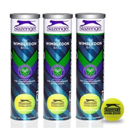 Мячи теннисные Slazenger Wimbledon Ultra-Vis + Hydroguard 4B