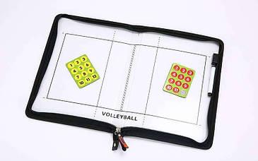 Доска тактическая (планшет) COACH волейбольная 42см x 28,5см