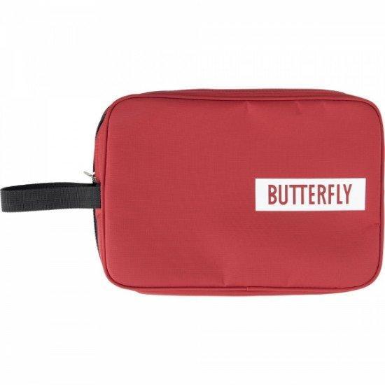Чехол для 1-й ракетки  Butterfly Logo (прямоугольный) красный