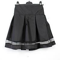 Юбка  черная школьная Шанель тм Vdags  размер 122,134, фото 1