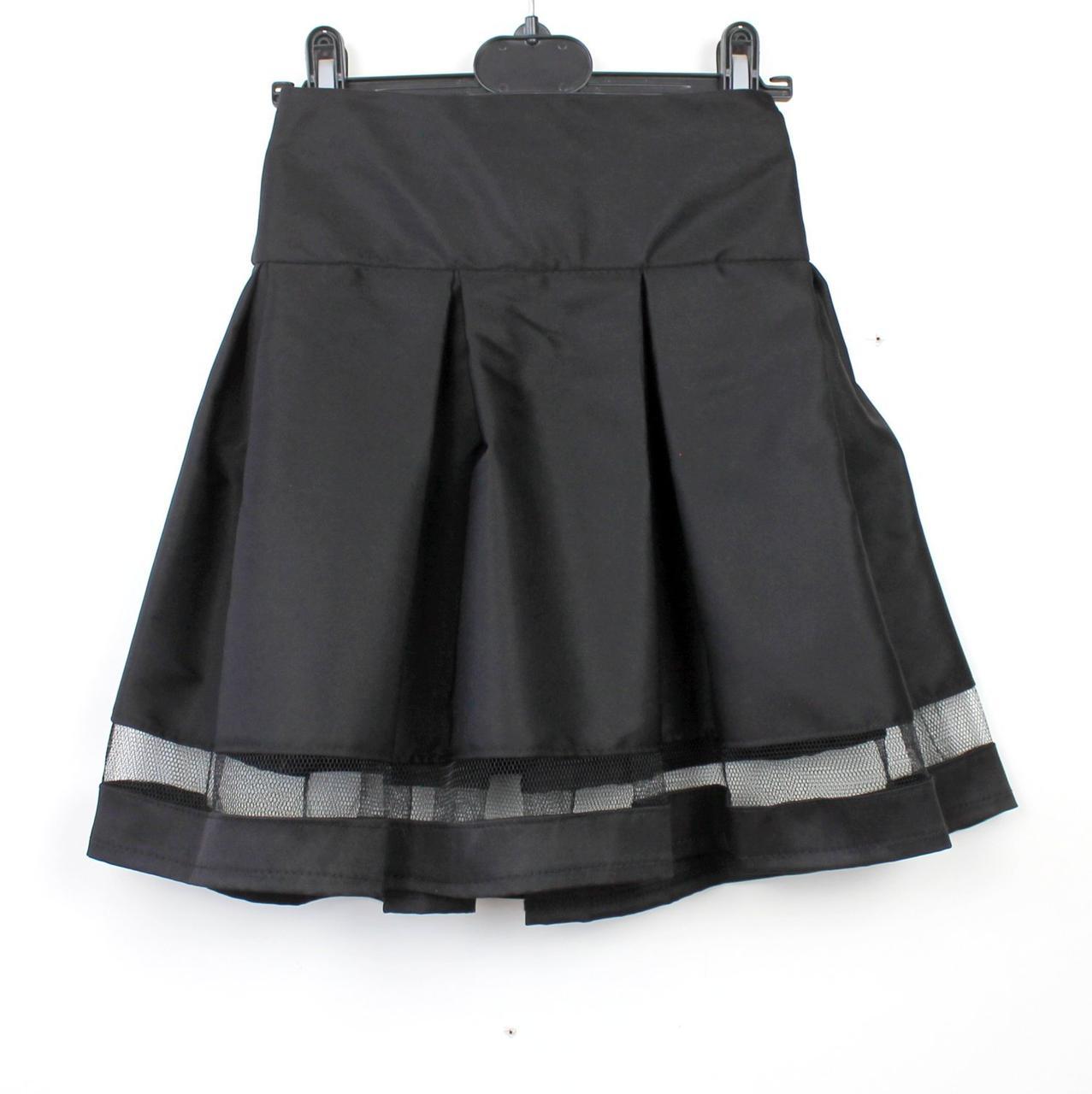 Юбка  черная школьная Шанель тм Vdags  размер 122,134